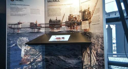 Kulturminne Valhall informasjon i oljemuseets utstilling. Foto: NOM/Jan A. Tjemsland