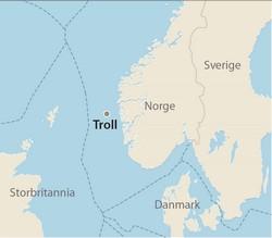 trollfeltet kart Troll Oljerør II | Norsk Oljemuseum trollfeltet kart