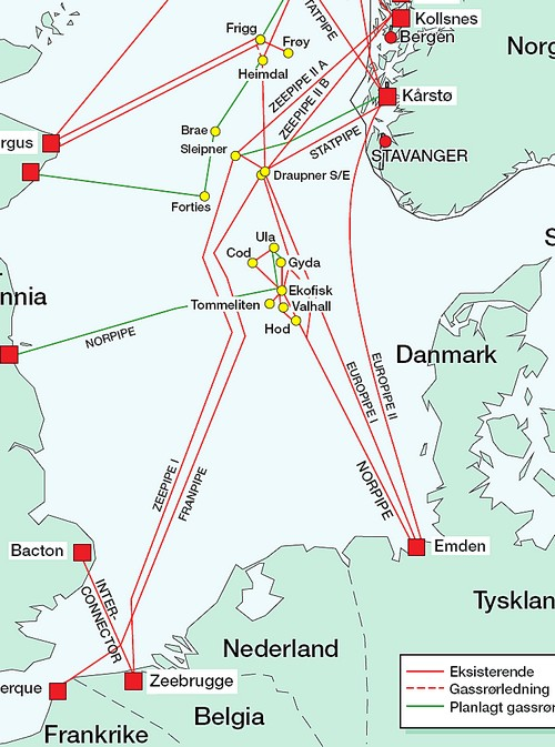 kollsnes kart Zeepipe IIB | Norsk Oljemuseum kollsnes kart