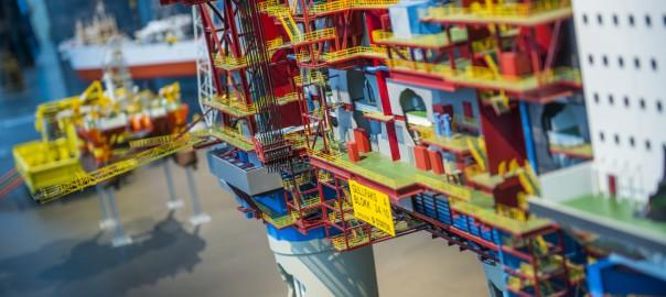 Gullfaks A plattform-modell i oljemuseet foto Fredrik Ringe