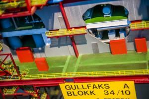 Gullfaks A plattform- modell på oljemuseet foto Fredrik Ringe