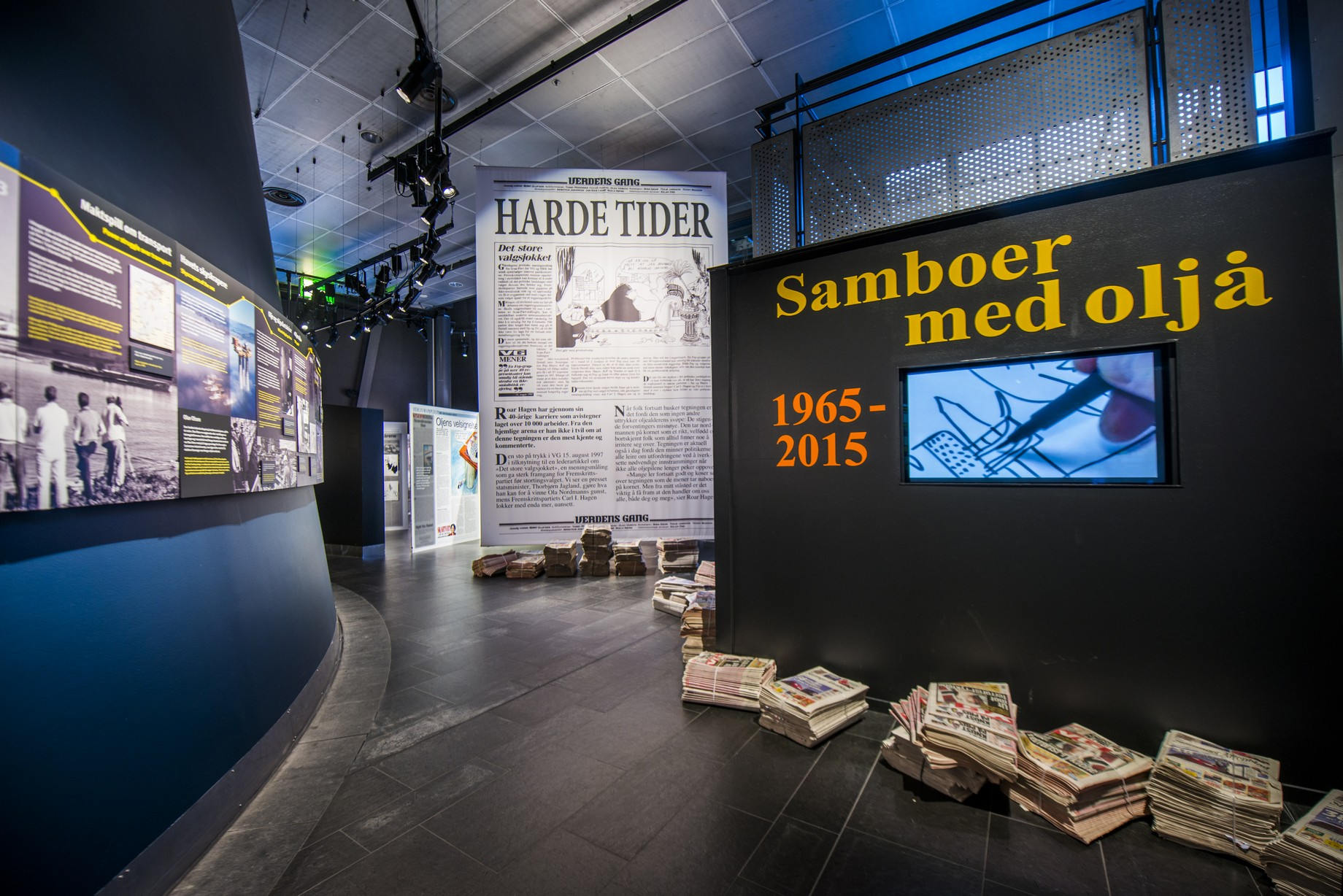 Samboer med oljå - utstilling på oljemuseet foto: Fredrik Ringe/NOM