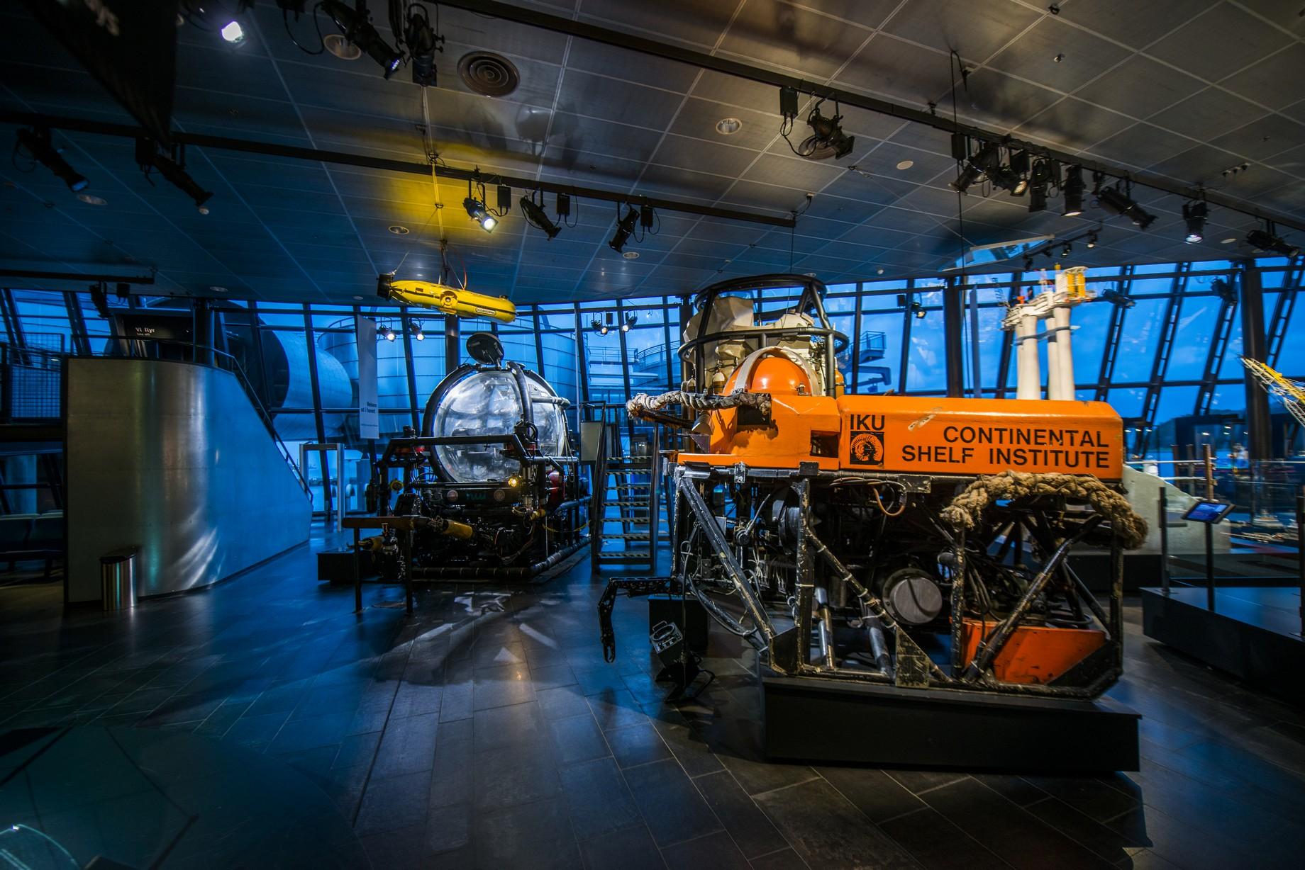 Undervannsutstyr på oljemuseet foto Fredrik Ringe