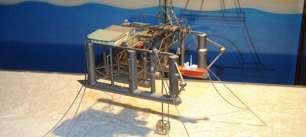 Modell av Ocean Traveler i oljemuseets utstilling foto: NOM/Jan A Tjemsland