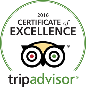 TripAdvisor 2016 Certificate of Excellence logo