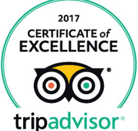 Tripadvisor 2017 Certificate of Excellence