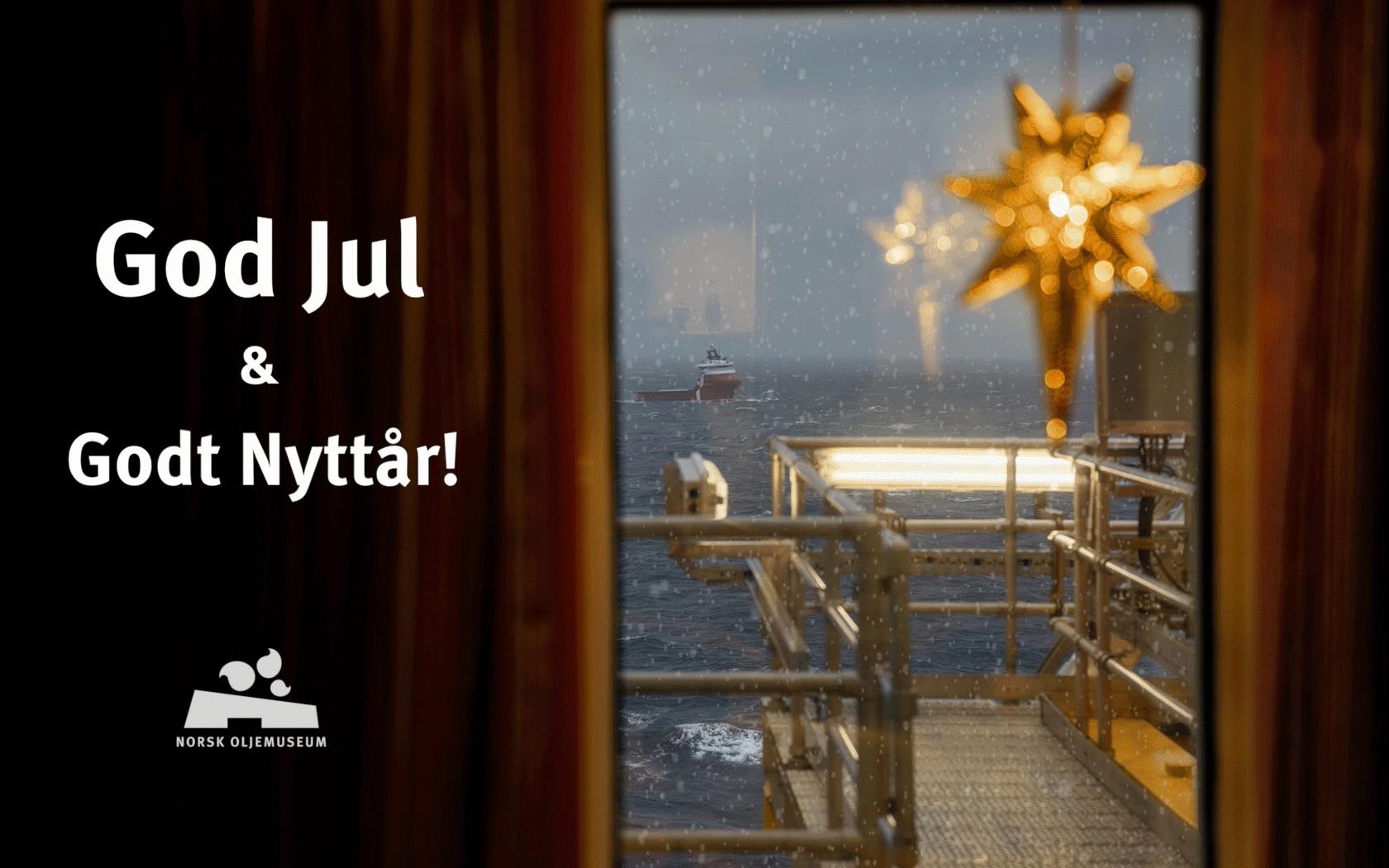 God jul og god nytt år fra Norsk Oljemuseum Foto: Marie von Krogh